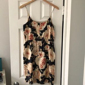 J. Crew Dresses - J.Crew Silk navy + blush floral dress - size 4